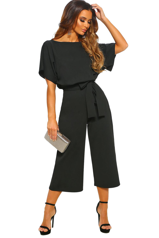 tan baratas gran selección de 2019 diseño de moda Mono Culotte Con Cinturones Siempre Elegante Negro
