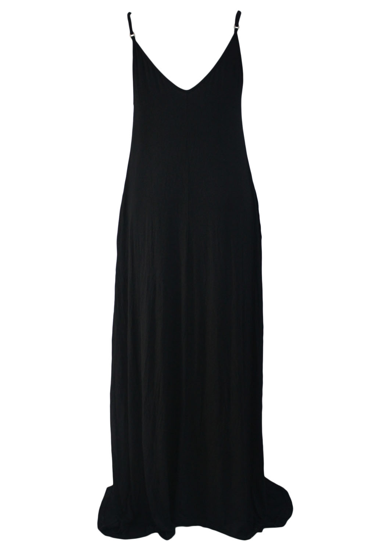 dc573604c Wholesale Black Boho Pocketed Maxi Dress Online