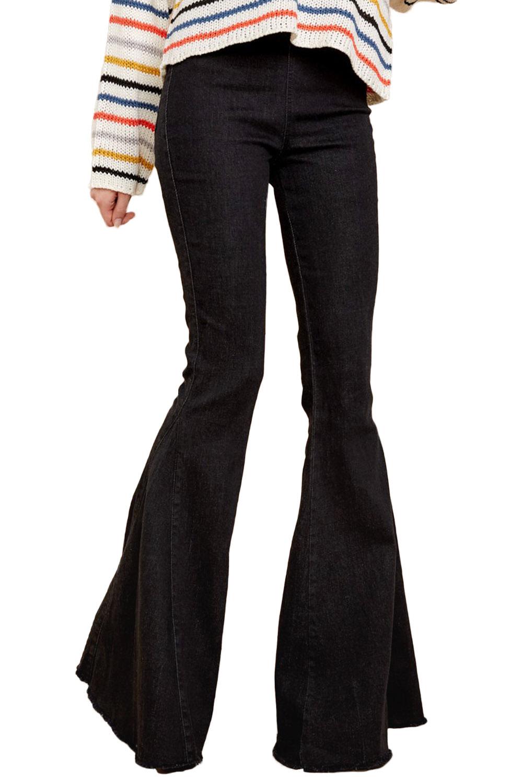outlet online designer fashion Official Website Black Flare Jeans