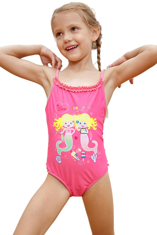 399c8cea4cb56 Wholesale Girls Swimsuits, Cheap Pink Little Mermaid Princess Teddy Swimsuit  Online