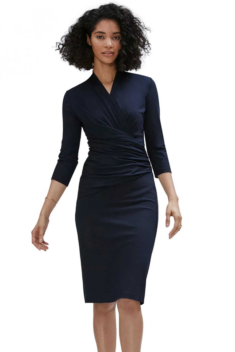 United states baby blue midi dress with sleeves