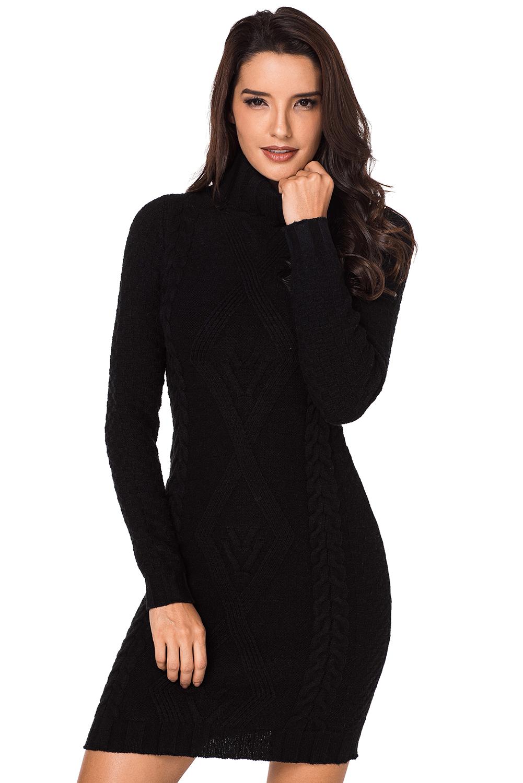 Pattern sweater oversized turtleneck dress toronto