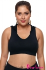 Black Lace Hooded Racerback Sports Bra