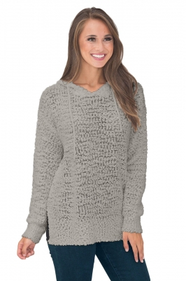Wrap In Love Hoodie Gray