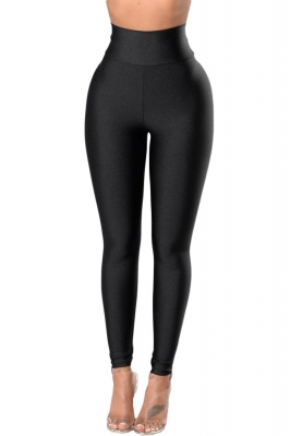 b3bd9d2edf598 Black High Rise Tight Leggings with Waist Cincher LC79944-2. US$ 2.98