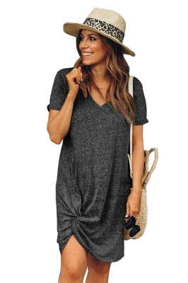 Black The Triblend Side Knot Dress