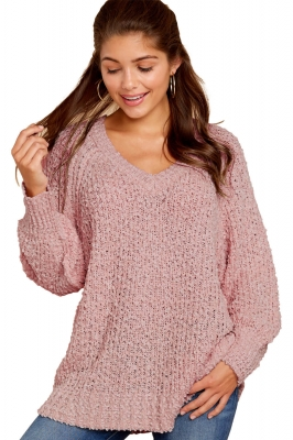 Pink Chill in The Air Sweater