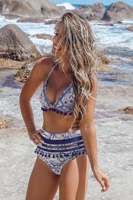 blauer wasser hoher bikini