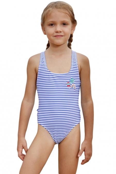 Wholesale Girls Swimsuits Cheap Blue Nautical Stripes